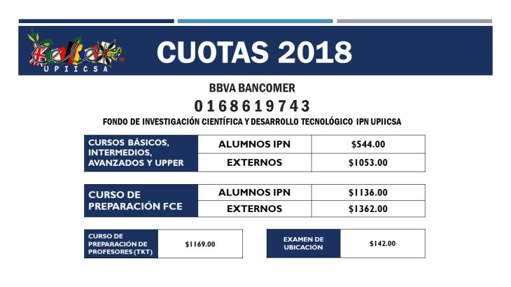 CUOTAS 2018