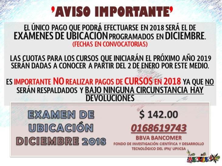 AVISO IMPORTANTE - NO PAGOS DICIEMBRE