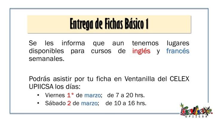 Entrega de Fichas Básico 1 - marzo